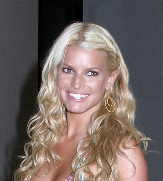 Jessica Simpson With Flower Child Style