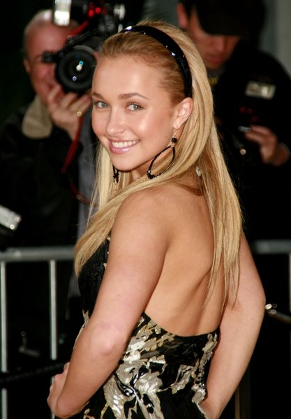 Hayden Panettiere With Long Straight Hair And Headband