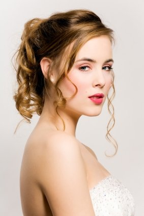 Romantic Loose Curl Updo
