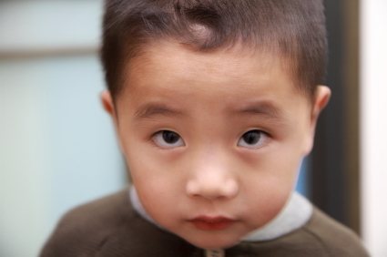 Chinese Boy with Cowlick