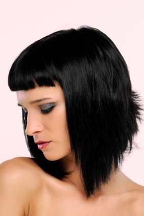Inverted Bob with Bangs