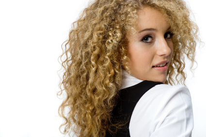 Teen with Tight Curls