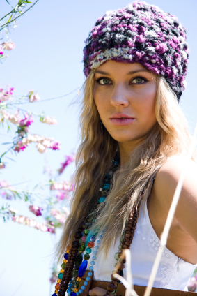 Spring Hairstyle Idea with Knit Beanie