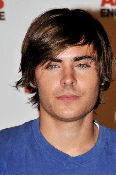 Zac Efron With Side Swept Bangs