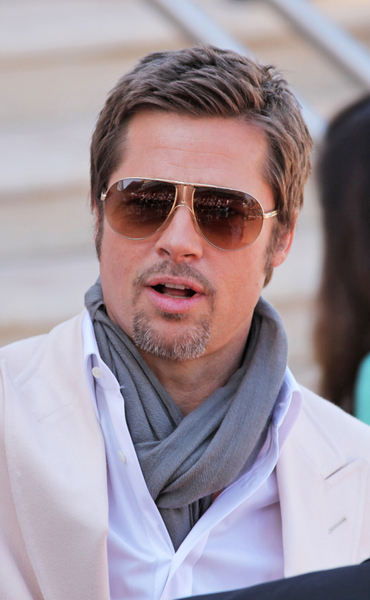 brad pitt going grey. Black Bedroom Furniture Sets. Home Design Ideas