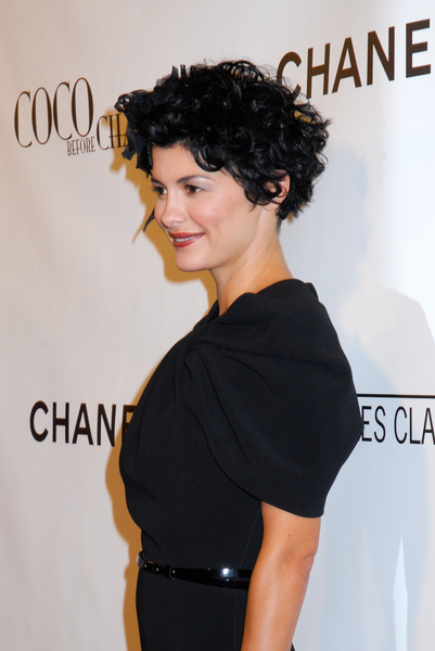 Audrey Tautou Short And Curly Black Hair
