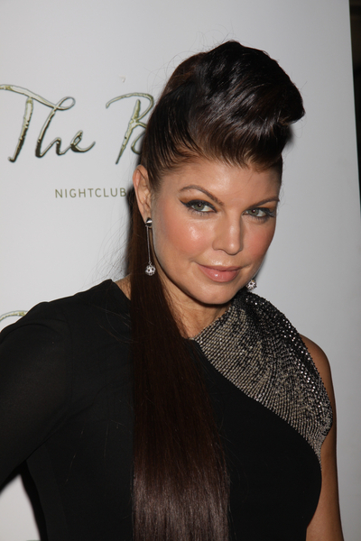 Fergie With Ponytail And Pompadour