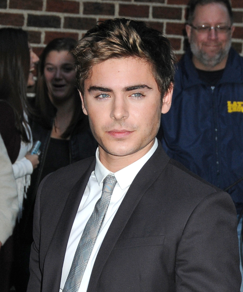 Zac Efron Haircut With Highlights