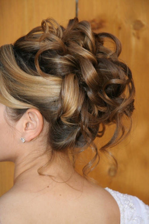 formal updo loose curls