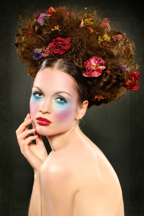If you are looking for something a little funky check this updo out