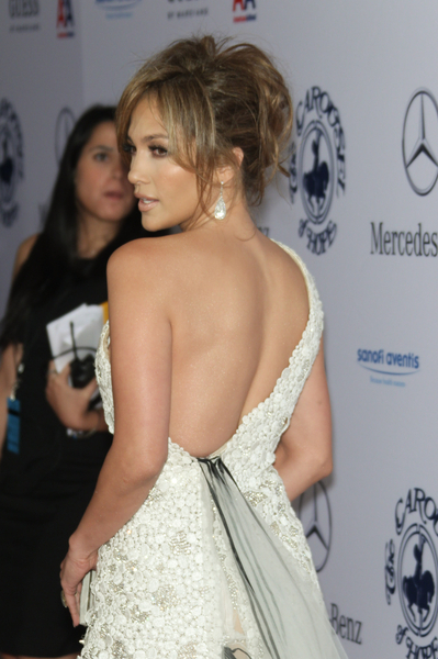 Jennifer has a way to make a short hairstyle look great in an updo.