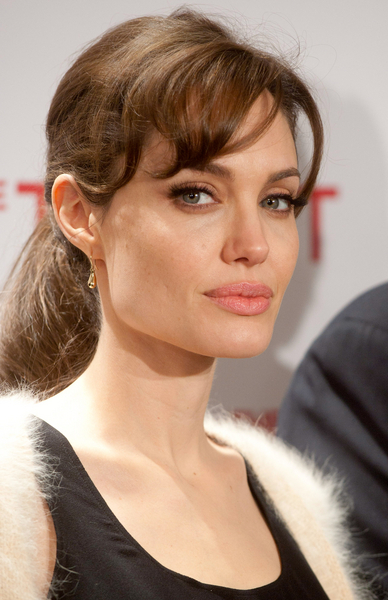 low ponytail prom hairstyles. Angelina Jolie Simple Ponytail