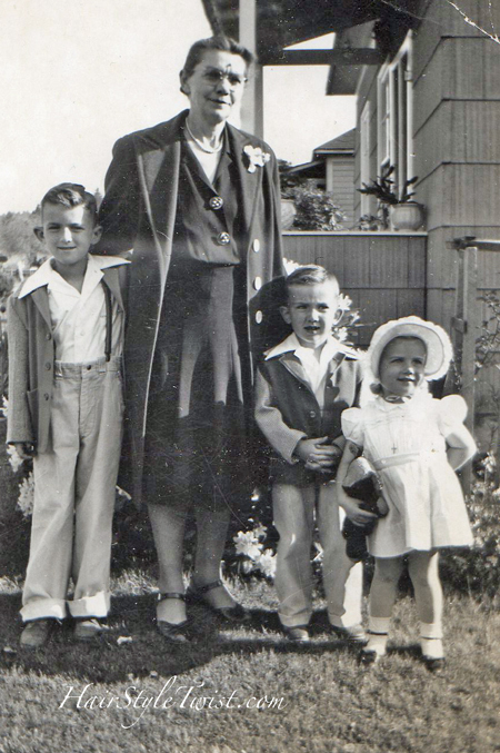 1930s Kids and Grandmother
