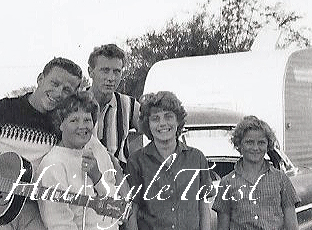 1950's family close up