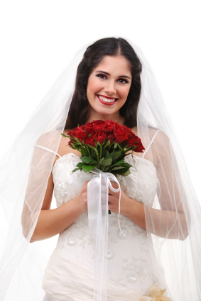 Red and White Bride