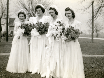 1940's Bride and Bridemaids