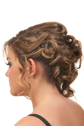 Pin Curled Updo