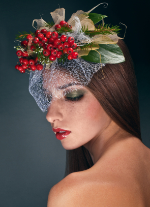 Christmas Holly Hairstyle
