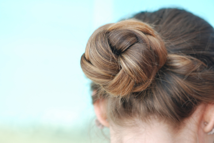 Back View Updo Knot