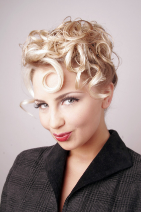 1950's Curly Updo