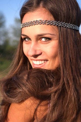 Hippie Girl with Headband
