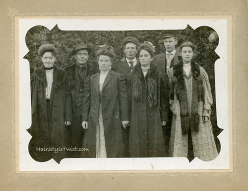 early 1900's men and women